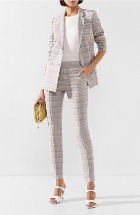 Женские шерстяные брюки GABRIELA HEARST серого цвета, арт. 320202 W019 | Фото 2