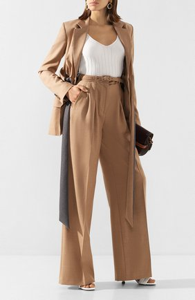 Женские шерстяные брюки GABRIELA HEARST бежевого цвета, арт. 320201 W018 | Фото 2