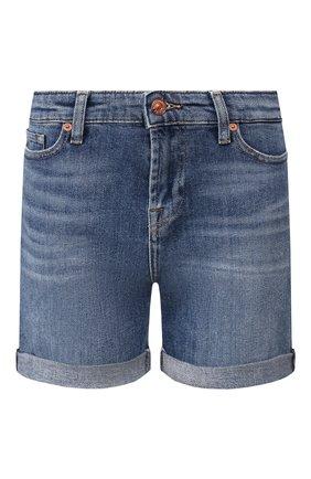 Женские джинсовые шорты 7 FOR ALL MANKIND синего цвета, арт. JSWUA500MI | Фото 1