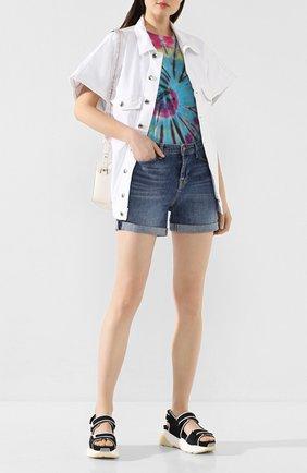 Женские джинсовые шорты 7 FOR ALL MANKIND синего цвета, арт. JSWUA500MI | Фото 2