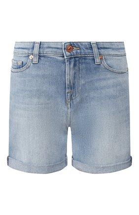Женские джинсовые шорты 7 FOR ALL MANKIND голубого цвета, арт. JSWUA500IH | Фото 1