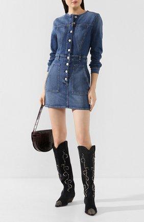 Женское джинсовое платье 3X1 синего цвета, арт. WD0040986/JUNE | Фото 2