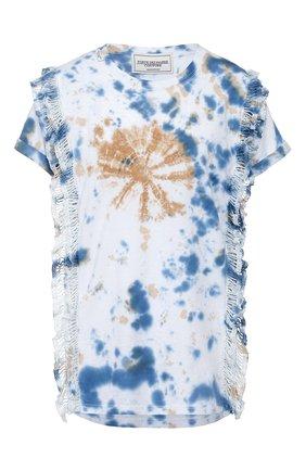 Женская хлопковая футболка FORTE DEI MARMI COUTURE разноцветного цвета, арт. 20SF5205 | Фото 1