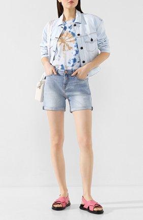 Женская хлопковая футболка FORTE DEI MARMI COUTURE разноцветного цвета, арт. 20SF5205 | Фото 2