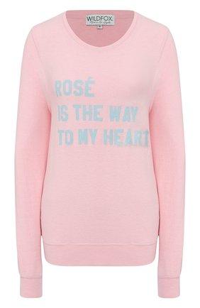 Женская свитшот WILDFOX розового цвета, арт. WVV6133L1   Фото 1