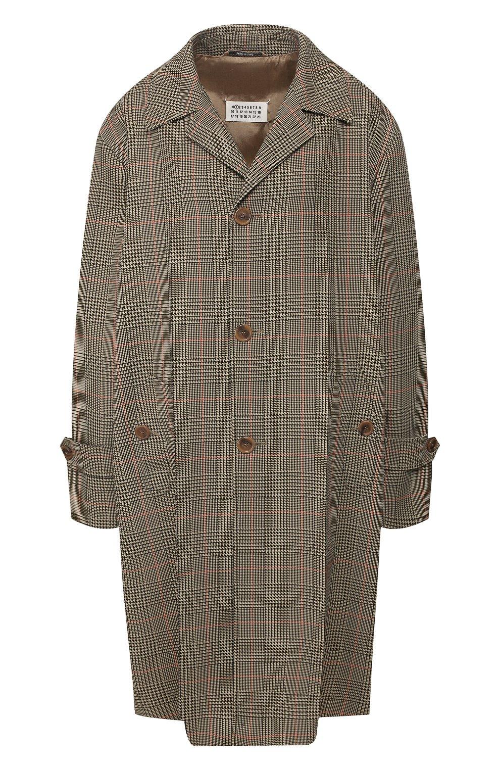 Женское пальто MAISON MARGIELA коричневого цвета, арт. S51AA0254/S52581 | Фото 1