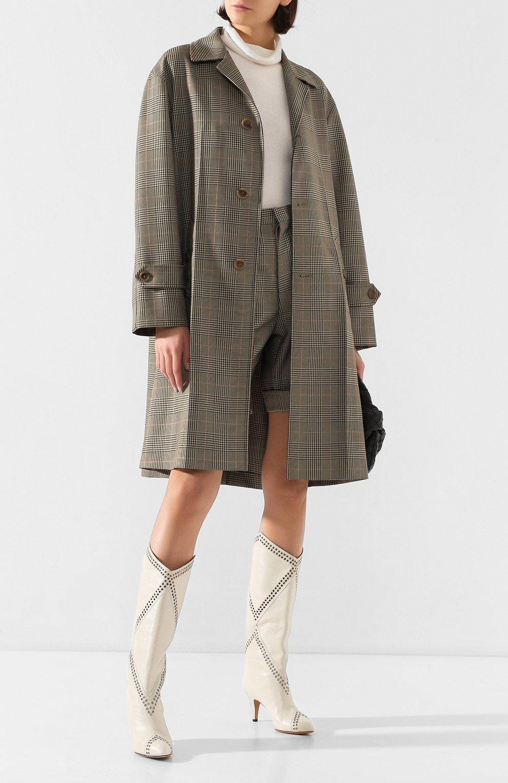 Женское пальто MAISON MARGIELA коричневого цвета, арт. S51AA0254/S52581 | Фото 2