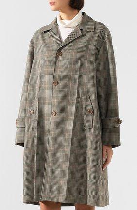 Женское пальто MAISON MARGIELA коричневого цвета, арт. S51AA0254/S52581 | Фото 3