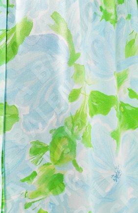 Женская шелковая блузка BALENCIAGA зеленого цвета, арт. 602571/TILE8 | Фото 5