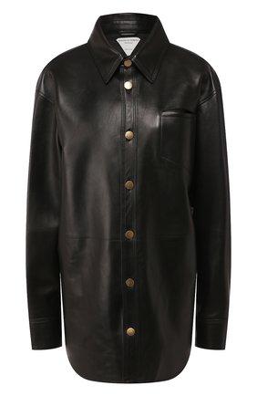 Женская кожаная рубашка BOTTEGA VENETA черного цвета, арт. 618525/VKV90 | Фото 1