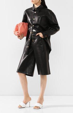 Женская кожаная рубашка BOTTEGA VENETA черного цвета, арт. 618525/VKV90 | Фото 2