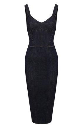 Женское джинсовое платье DOLCE & GABBANA темно-синего цвета, арт. F6C3CD/G898Z | Фото 1