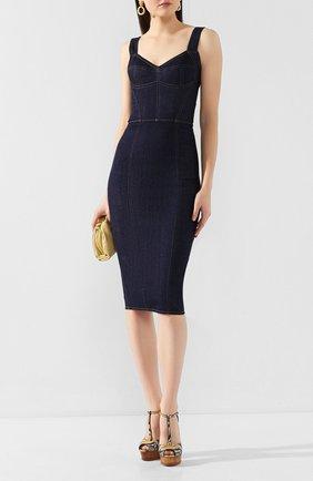Женское джинсовое платье DOLCE & GABBANA темно-синего цвета, арт. F6C3CD/G898Z | Фото 2