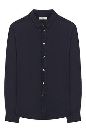 Детская рубашка из льна и хлопка PAOLO PECORA MILANO темно-синего цвета, арт. PP2337/14A-16A | Фото 1