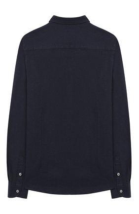 Детская рубашка из льна и хлопка PAOLO PECORA MILANO темно-синего цвета, арт. PP2337/14A-16A | Фото 2