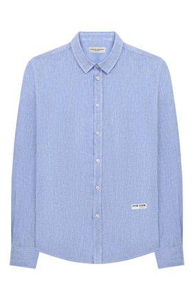 Детская льняная рубашка PAOLO PECORA MILANO голубого цвета, арт. PP2335/14A-16A | Фото 1