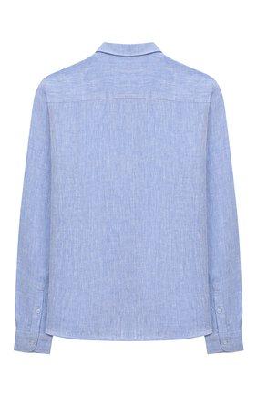Детская льняная рубашка PAOLO PECORA MILANO голубого цвета, арт. PP2335/14A-16A | Фото 2
