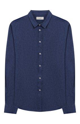 Детская рубашка из льна и хлопка PAOLO PECORA MILANO синего цвета, арт. PP2243/14A-16A | Фото 1