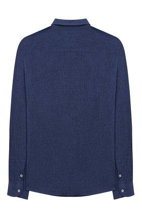 Детская рубашка из льна и хлопка PAOLO PECORA MILANO синего цвета, арт. PP2243/14A-16A | Фото 2