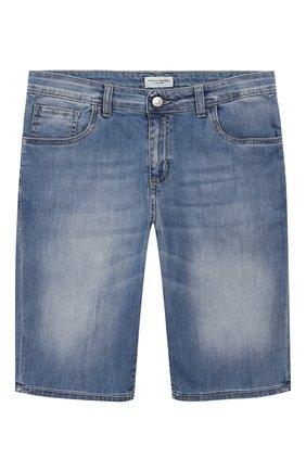 Детские джинсовые шорты PAOLO PECORA MILANO голубого цвета, арт. PP2189/14A-16A | Фото 1