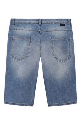 Детские джинсовые шорты PAOLO PECORA MILANO голубого цвета, арт. PP2189/14A-16A | Фото 2