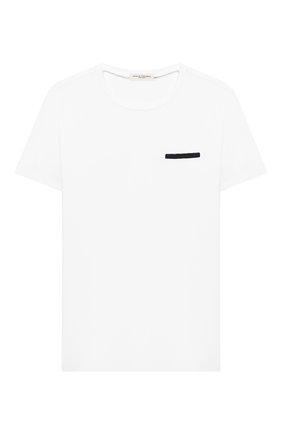 Детская хлопковая футболка PAOLO PECORA MILANO белого цвета, арт. PP2135/8A-12A | Фото 1