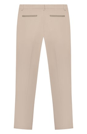 Детские хлопковые брюки PAOLO PECORA MILANO бежевого цвета, арт. PP2119/8A-12A | Фото 2