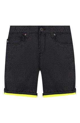 Детские джинсовые шорты EMPORIO ARMANI темно-синего цвета, арт. 3H4SJA/4D22Z | Фото 1
