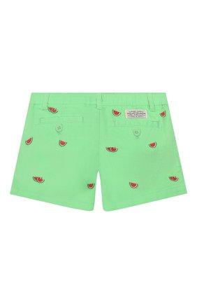 Детские хлопковые шорты POLO RALPH LAUREN зеленого цвета, арт. 313784535 | Фото 2