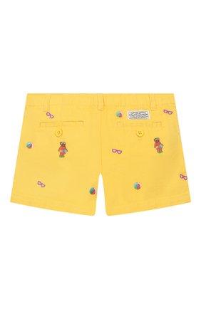 Детские хлопковые шорты POLO RALPH LAUREN желтого цвета, арт. 312784535 | Фото 2