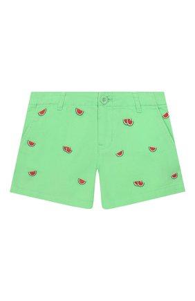 Детские хлопковые шорты POLO RALPH LAUREN зеленого цвета, арт. 312784535 | Фото 1