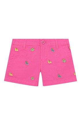 Детские хлопковые шорты POLO RALPH LAUREN розового цвета, арт. 312784535 | Фото 1