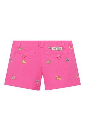 Детские хлопковые шорты POLO RALPH LAUREN розового цвета, арт. 312784535 | Фото 2