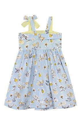 Детское хлопковое платье IL GUFO голубого цвета, арт. P20VA253C4059/5A-8A | Фото 2
