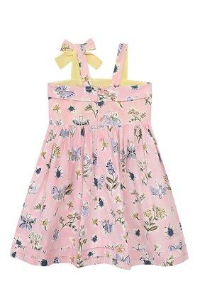 Детское хлопковое платье IL GUFO розового цвета, арт. P20VA253C4059/5A-8A | Фото 2