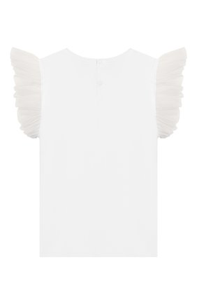 Детская хлопковая футболка IL GUFO белого цвета, арт. P20TS236M0014/5A-8A | Фото 2