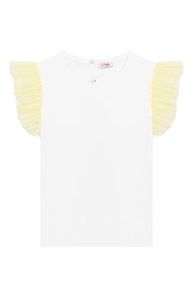 Детская хлопковая футболка IL GUFO желтого цвета, арт. P20TS236M0014/5A-8A | Фото 1