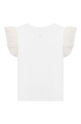 Детская хлопковая футболка IL GUFO белого цвета, арт. P20TS236M0014/2A-4A | Фото 2