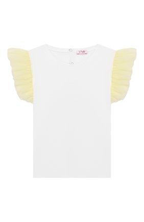 Детская хлопковая футболка IL GUFO желтого цвета, арт. P20TS236M0014/2A-4A   Фото 1