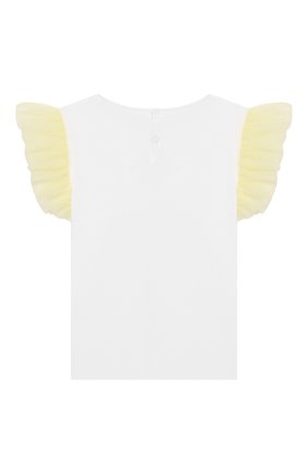 Детская хлопковая футболка IL GUFO желтого цвета, арт. P20TS236M0014/2A-4A   Фото 2