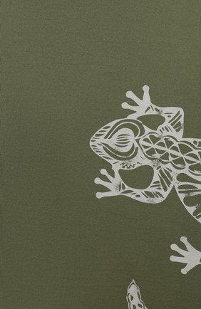 Детская хлопковая футболка IL GUFO хаки цвета, арт. P20TS221M7011/5A-8A | Фото 3
