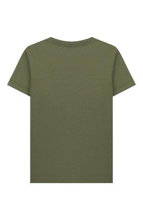 Детская хлопковая футболка IL GUFO хаки цвета, арт. P20TS221M7011/2A-4A | Фото 2