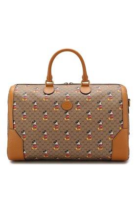 Мужская дорожная сумка disney x gucci GUCCI коричневого цвета, арт. 547953/HWUBM | Фото 1