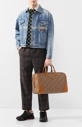 Мужская дорожная сумка disney x gucci GUCCI коричневого цвета, арт. 547953/HWUBM | Фото 2