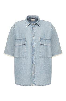Мужская джинсовая рубашка FEAR OF GOD голубого цвета, арт. 6H19-2012/LWD | Фото 1