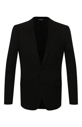 Мужской пиджак из вискозы DOLCE & GABBANA черного цвета, арт. G2LV7T/FUGI2 | Фото 1