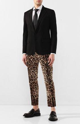 Мужской пиджак из вискозы DOLCE & GABBANA черного цвета, арт. G2LV7T/FUGI2 | Фото 2