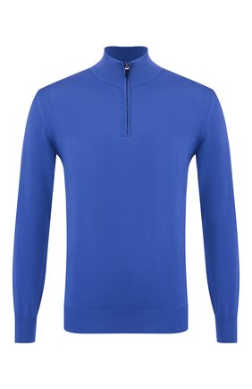 Мужской хлопковый джемпер CANALI синего цвета, арт. C0015/MK00145   Фото 1