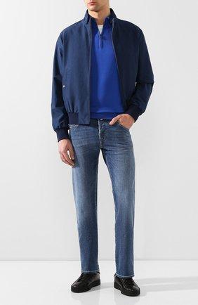 Мужской хлопковый джемпер CANALI синего цвета, арт. C0015/MK00145   Фото 2