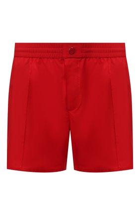 Мужские шорты KITON красного цвета, арт. UW0744V07S97 | Фото 1 (Материал внешний: Синтетический материал; Принт: Без принта; Кросс-КТ: Пляж)